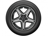 "AMG 5 double spoke 20"" black"